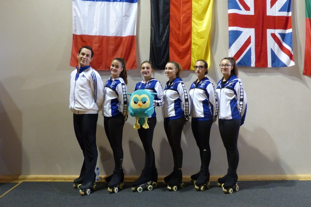 Photo des patineurs du club séléctionnés